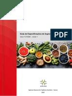 Guia n.37 - Especificações Ingredientes Alimentares