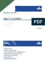 Clase 2 Algebra Parte 1