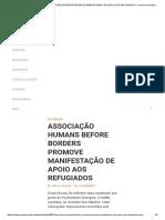 ASSOCIAÇÃO HUMANS BEFORE BORDERS PROMOVE MANIFESTAÇÃO DE APOIO AOS REFUGIADOS – Jornal Universitário do Porto