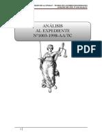 ANÁLISIS DE SENTENCIA DEL TRIBUNAL CONSTITUCIONAL Nº1003-1998-AATC