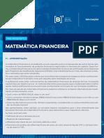 Matemática financeira BMF&BOVESPA