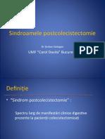 Curs 8 - Sindroamele postcolecistectomie
