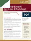 Customer Loyalty Summary