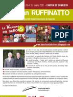 Notre projet pour le Canton - Vaucluse en actions avec Christian Ruffinatto