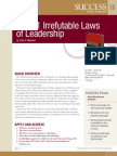 The Irrefutable Laws of Leadership Summary