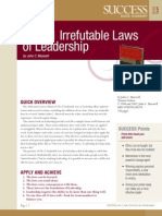 The Irrefutable Laws of Leadership Summary