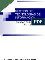 GESTIÓN DE T.I.-PLANEACIÓN DE T I
