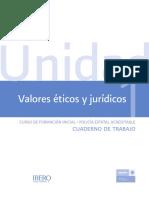 CUADERNO DE TRABAJO VALORES ÉTICOS Y JURÍDICOS