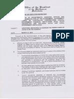 Malacañang Memorandum Approving IATF Resolution No 104