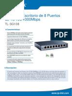 TL-SG108 V1 Datasheet ES