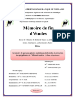 Inventaire de quelques plantes médicinales de Kabylie et extraction des polyphénols de l'Allium triquètre (Allium triquetrum)
