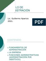 MODULO DE ADMINISTRACIÓN