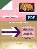 modifikasi resep