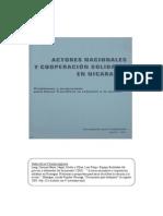 Actores Nacionales  y Cooperacion Solidaria