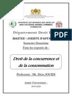 Droit de la concurrence et consommation (Tous les exposés)