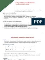 V.a Distributions de Probabilités Et Lois de Probabilités Usuelles(1) - Copie