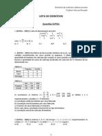 Exercícios de matrizes e determinantes
