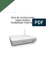 Guía de configuración THOMPSON TCW750-4