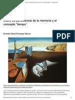 """Sobre La persistencia de la memoria y el concepto """"tiempo"""" – Arte Bajo Cero"""