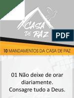 OS 10M MANDAMENTOS DA CASA DE PAZ1