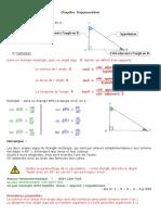 3e cours trigonométrie - définition des rapports