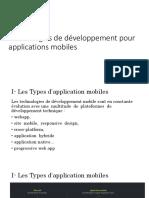 Chapitre 5 Technologies de developpement mobile