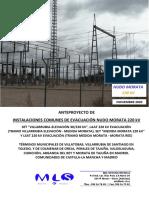 Mls20-070 Anteproyecto Instalaciones Nudo Morata 220 Kv