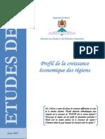 Profil Croissance Economique Regions