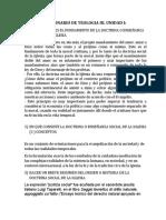 CUESTIONARIO DE TEOLOGIA III UNIDAD I