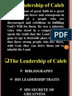 The Leadership of Caleb