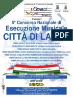 Concorso di Esecuzione Musicale Città di latina 2021 - Brochure