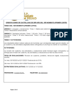 GUIA DE ESTUDIO DE CASTELLANO DE 3ER AÑO DEL 1 ER MOMENTO