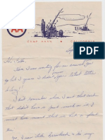 WWII 1943 Camp Haan Letter