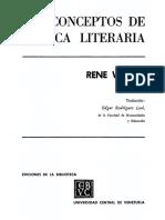 Wellek René (1960). _Teoría literaria, crítica e historia_. En_Concepts of Criticism. Yale University press_United States.