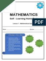 Quarter 3 Lesson 1 - Mathematical System