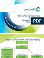 Office of Environment and Sustainability Budget Presentation