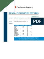 2. Funciones Estadísticas - Ejercicio