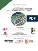 GEOVISUALISATION 3D DU PATRIMOINE ENGLOUTI DES GORGES DE LA LOIRE