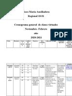Cronograma general final  estructura para  año escolar 2020-2021 1