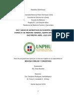 Uso y abuso de antibióticos en pacientes que asisten a consulta de medicina general, Centro Doctor Inocencio Diaz Piñeyro, abril - julio 2018