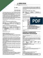 Resultado Provisório da 1° Etapa Prova Objetiva_Convocação para Exames Pré Admissionais