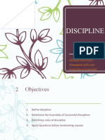 10 - Discipline
