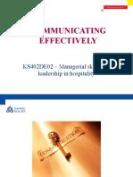 13 - Communicating Effectively