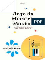 JOGO DA MEMORIA - Notas na Pauta e no Teclado