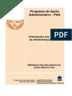 Orientações aos Agentes da Adm 2010[1]