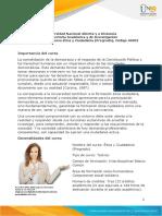 Presentación del curso Ética y Ciudadanía (Pregrado)