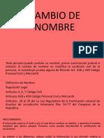 1. CAMBIO DE NOMBRE