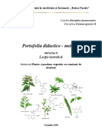 Plante si PV cu continut de alcaloizi pirolizidinici, nicotinici, coniinei, lobelinei