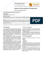 History and Development of Accounting in Perspective