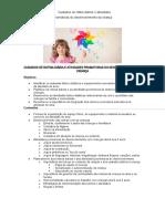 cuidados de rotina diarios e atividades de desenvolvimento da criança